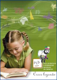 Cartel del Plan de lectura y bibliotecas escolares de Canarias