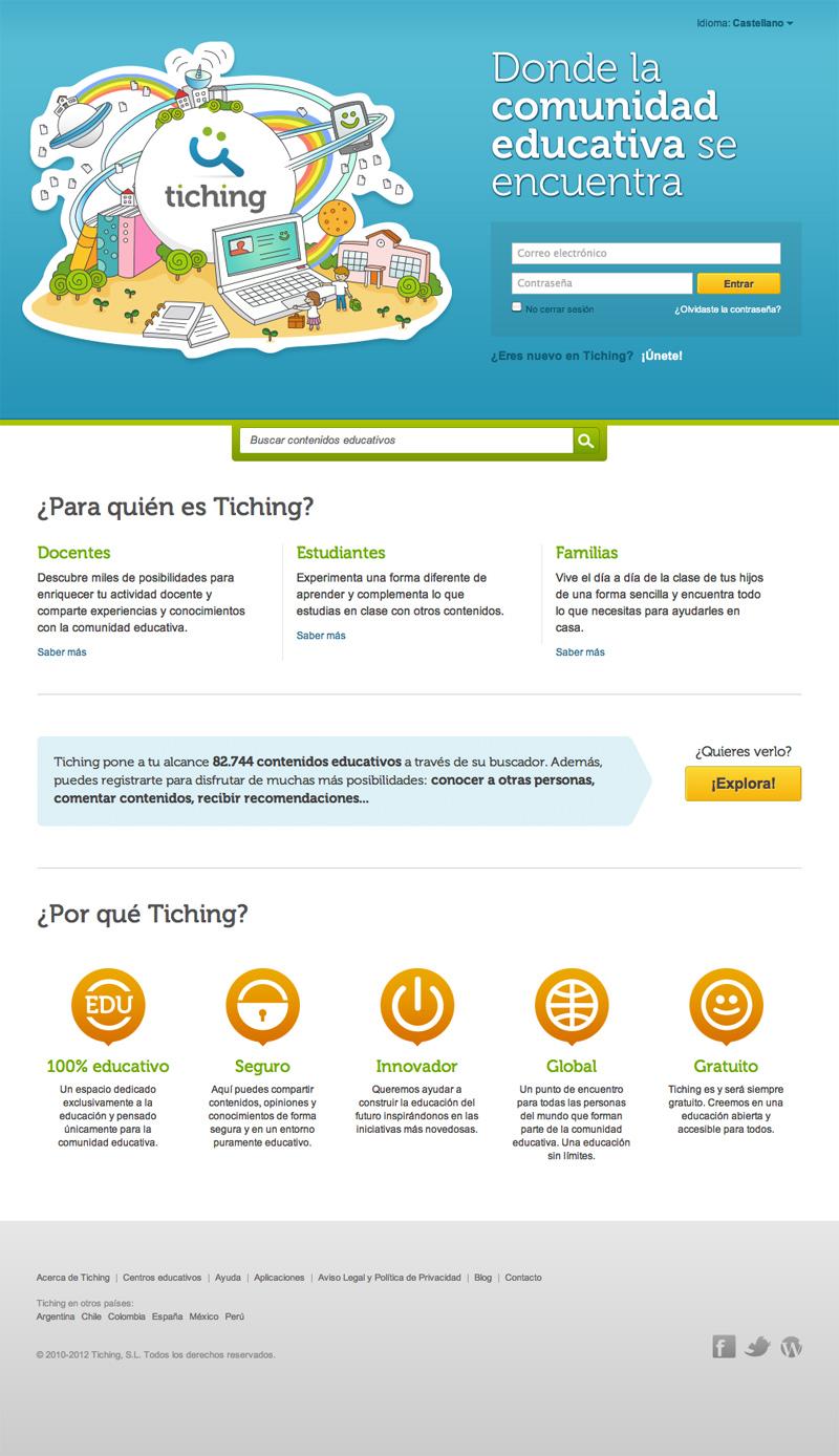 Tiching: red de intercambio de material educativo