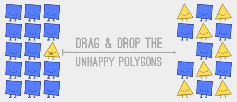 La 'Parábola de los Polígonos', un simulador jugable sobre la integración social