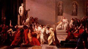 """La muerte de César"" de Vincenzo Camuccini (Fuente: Wikipedia)"